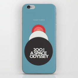2001 a Space Odyssey - Stanley Kubrick, minimal movie poster, rétro film playbill, sci-fi iPhone Skin