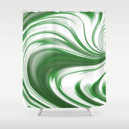 Melting Green Shower Curtain