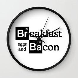 Breaking Bad Logo - Breakfast, eggs,bacon- Heisenberg - TV Wall Clock