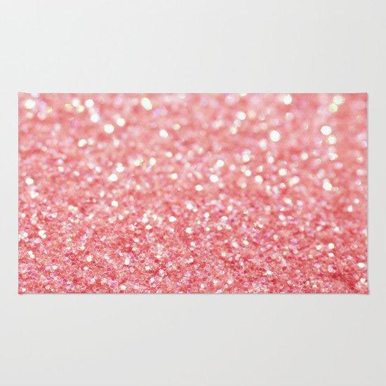 Pink Sparkle Rug By Ingrid Beddoes