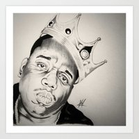 notorious big Art Prints featuring Notorious Big  by Jamal Beasy