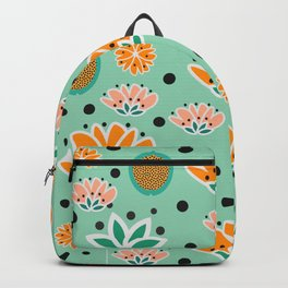 Summer flowers in mint Backpack