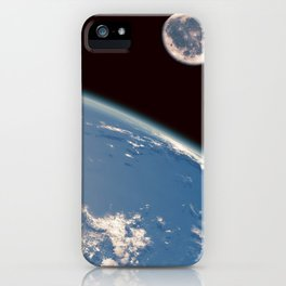 Earth and Moon iPhone Case