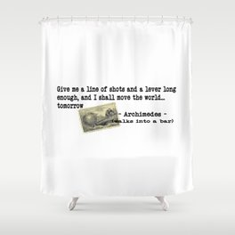 Archimedes Walks Into A Bar #2 Shower Curtain