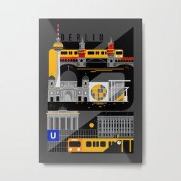 Berlin at Night Metal Print