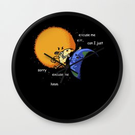 Excuse Me Total Solar Eclipse August 21 2017 Wall Clock