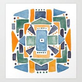 Geometric Watercolor Art Print