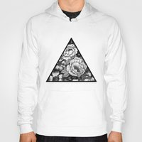 triangle Hoodies featuring Triangle by adroverart