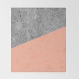 Geometry 101 Sweet Peach Pink Throw Blanket