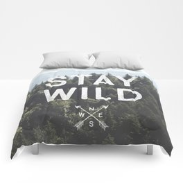 Stay Wild - Mountain Pines Comforters