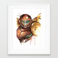 samus Framed Art Prints featuring Samus by Alonzo Canto