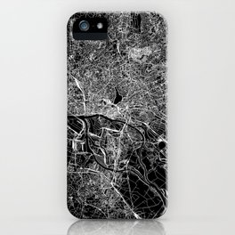 Hamburg Black Map iPhone Case