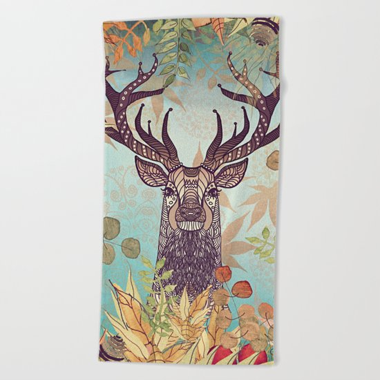 THE FRIENDLY STAG Beach Towel