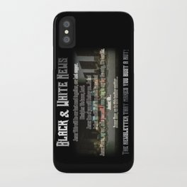 The Black & White Last Supper iPhone Case