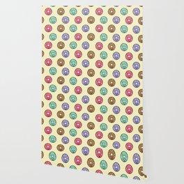 Kawaii Donut Pattern Wallpaper