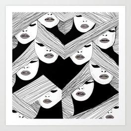 Audrey pattern Art Print