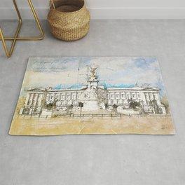 Buckingham Palace, London England Rug