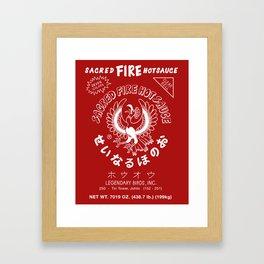 Sacred Fire Hot Sauce Framed Art Print