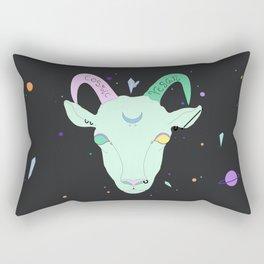 Vegan Cosmic Goat Rectangular Pillow