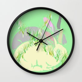 NO BUNNY RABBIT FARM  Wall Clock