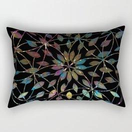 Boho Mandala Flower Splatter Rectangular Pillow