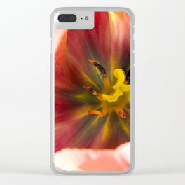 Pink Tulip #2 Clear iPhone Case