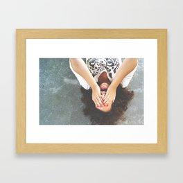 Drop your worries Framed Art Print