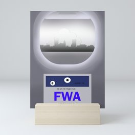 Fort Wayne - FWA - Airport Code and Skyline Mini Art Print