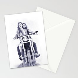 Biker Babes Stationery Cards