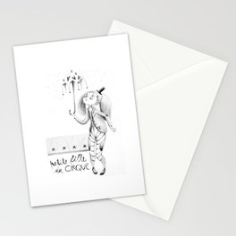 Petite fille du cirque Stationery Cards