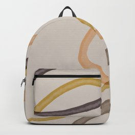 Ring Abstract On Beige One Backpack