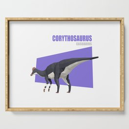 Low Poly Dinosaur - Corythosaurus Serving Tray