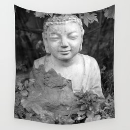 Buddha back and white Wall Tapestry