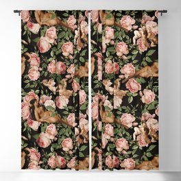 Sleeping Antique Venus in Roses Guarded By Baroque Angels Blackout Curtain