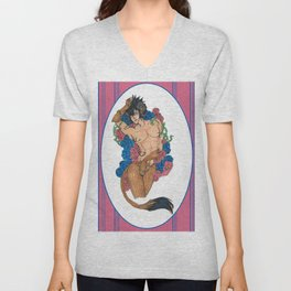 A Beauty and a Beast Unisex V-Neck
