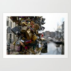Lovers locks Art Print
