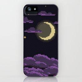 pixel clouds-arabian night iPhone Case