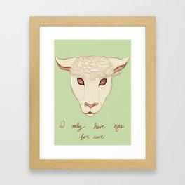 I Only Have Eyes For Ewe Framed Art Print