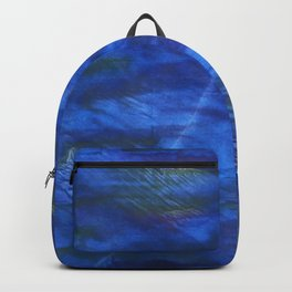 Indigo abstract watercolor background Backpack
