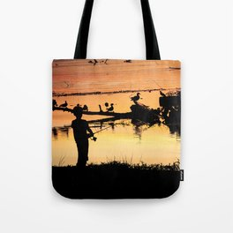 Little Boy Fishing Tote Bag