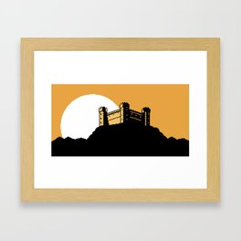 The Ancient Castle of Dusk Heights Framed Art Print