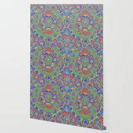 Circular paisley Wallpaper