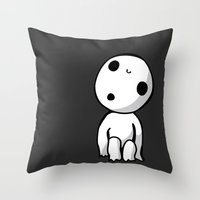 kodama Throw Pillows featuring Kodama! by BlondieAu