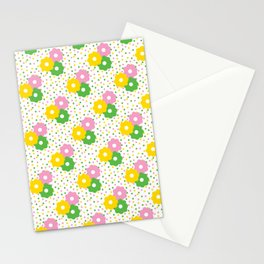 60s Ditsy Daisies + Dots Stationery Cards
