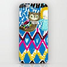 owl and girl love iPhone & iPod Skin