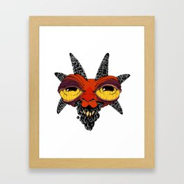 Goat Goo Framed Art Print