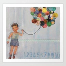 boy balloon Art Print