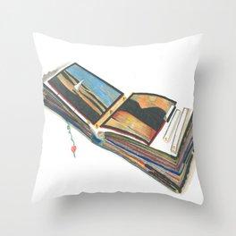 Scrap Book Throw Pillow