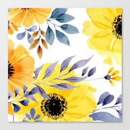 FLOWERS WATERCOLOR 10 Canvas Print