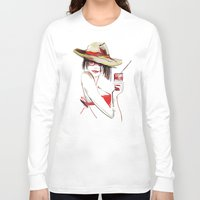 cocktail Long Sleeve T-shirts featuring cocktail by tatiana-teni